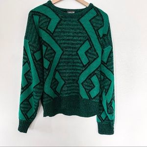 Vintage Over Sized Chunky Knit Grandpa Sweater